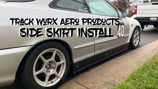 Integra track worx aero  side skirt install