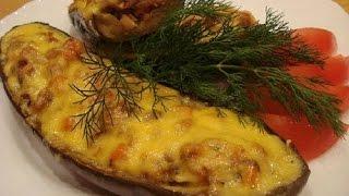 Домашние видео-рецепты - баклажаны с фаршем и сыром в мультиварке