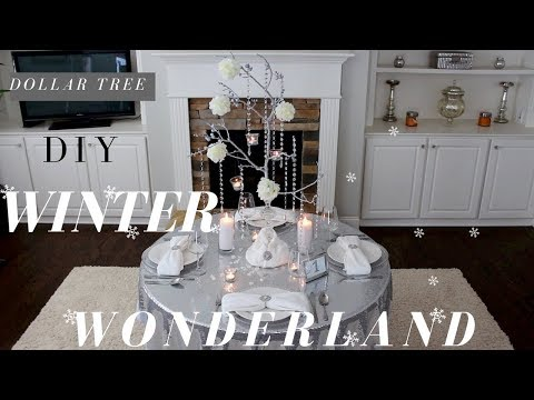 DIY Winter Wonderland Centerpiece | DIY Manzanita Tree Centerpiece | Dollar Tree Wedding Decorations
