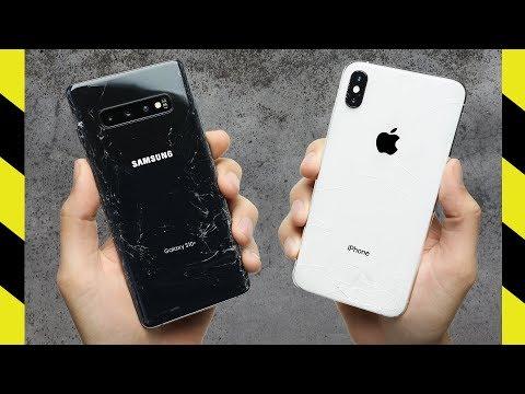 Galaxy S10+ vs. iPhone XS Max Drop Test!