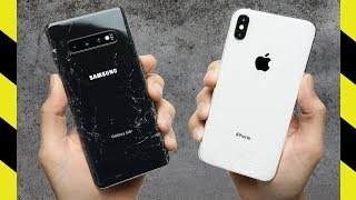 Galaxy S10+ vs. iPhone XS Max Drop Test!
