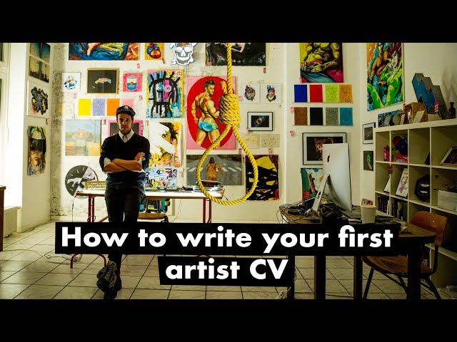 How to write your first artist CV