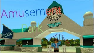 Going to an amusement park in ROBLOX! | ROBLOX Blox World