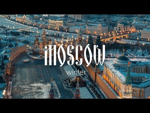 Desperation of winter Moscow \\ Russia Drone Video