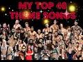My Top 40 WWE/WCW/WWF Theme Songs
