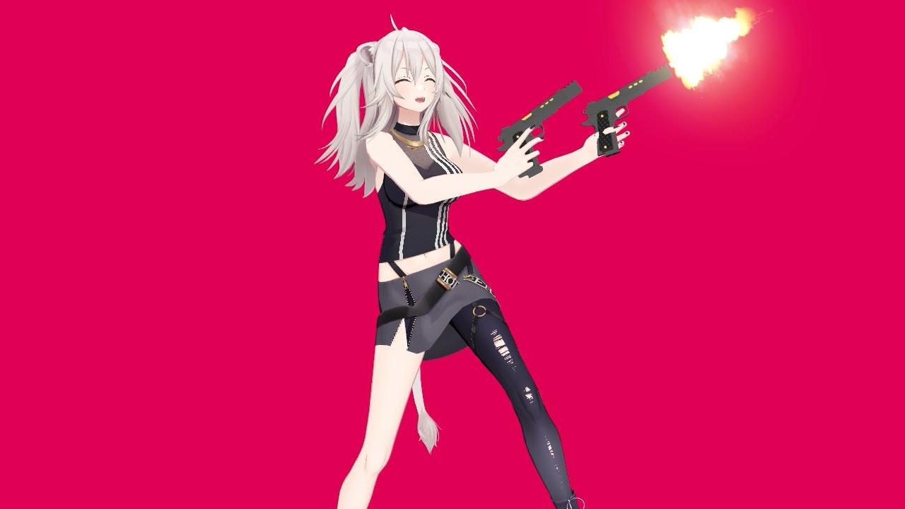 Ievan Polkka but Shishiro Botan loves Guns【MMD Hololive】