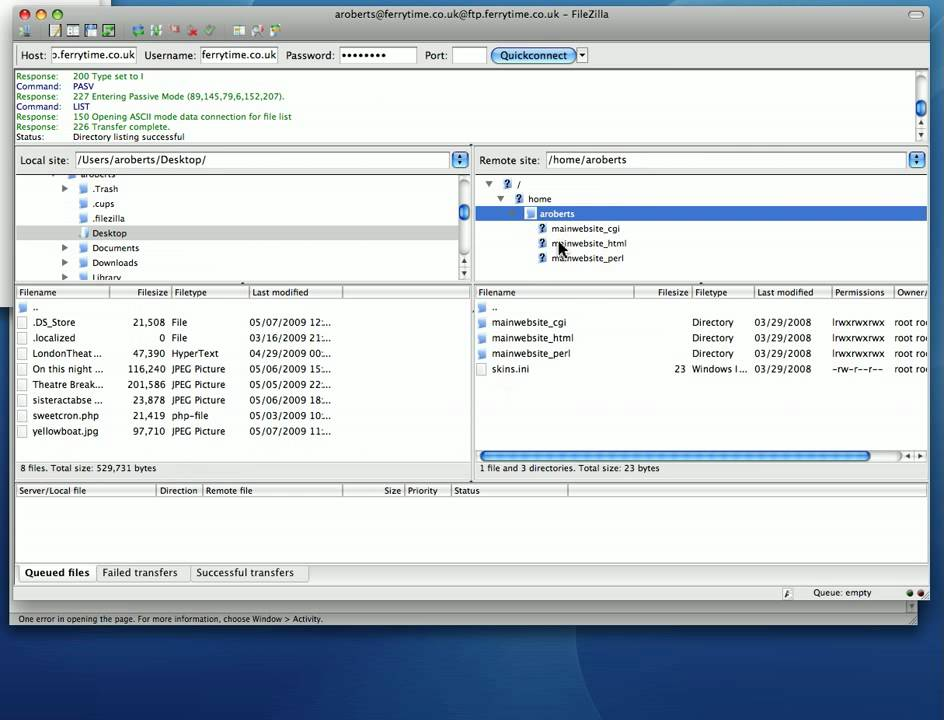 how to connect ftp using filezilla