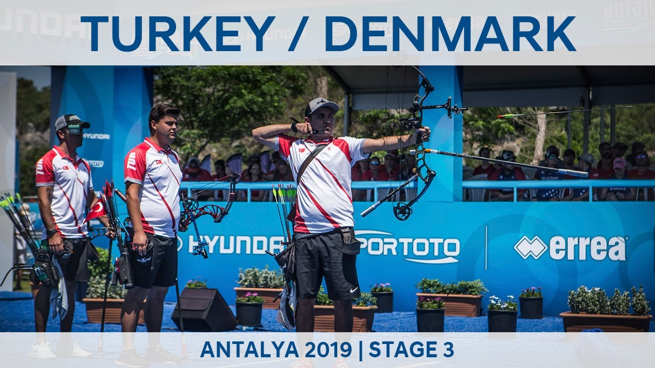 Turkey v Denmark – compound men's team gold   Antalya 2019 World Cup S3
