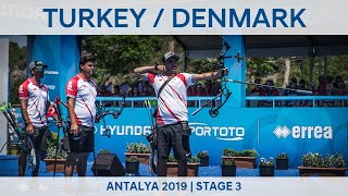 Turkey v Denmark – compound men's team gold | Antalya 2019 World Cup S3