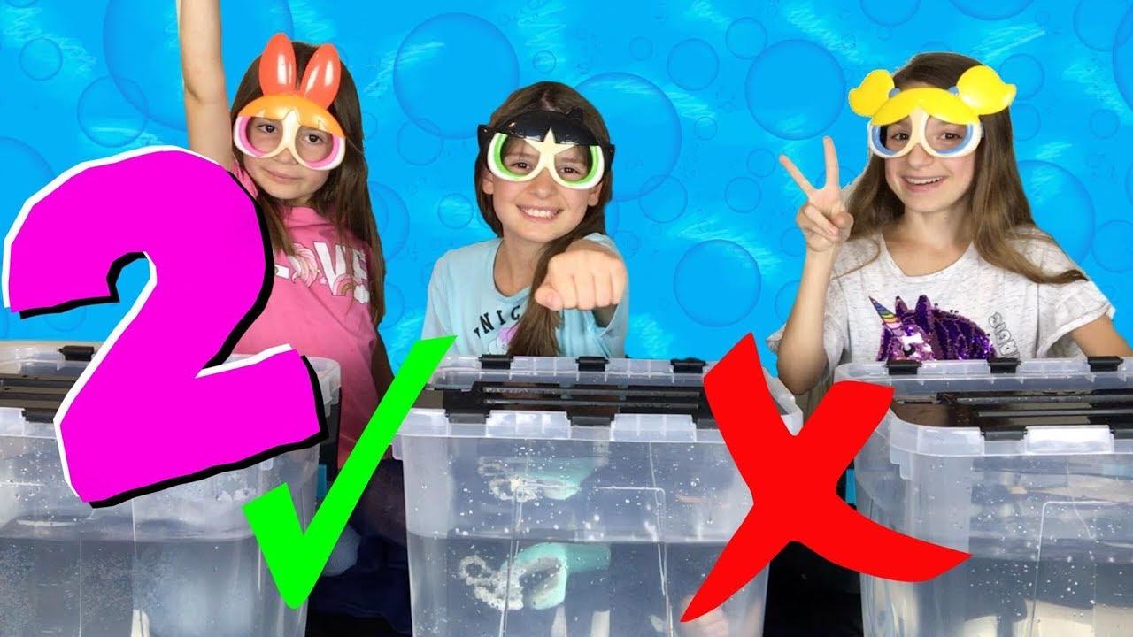 WHAT'S IN THE BOX CHALLENGE UNDERWATER 2 !!! Qui va gagner ??? Lévanah&Family