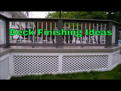 Diy Porch & Deck Skirting Ideas with Vinyl, Composite Lattice Fence skirt panel closures