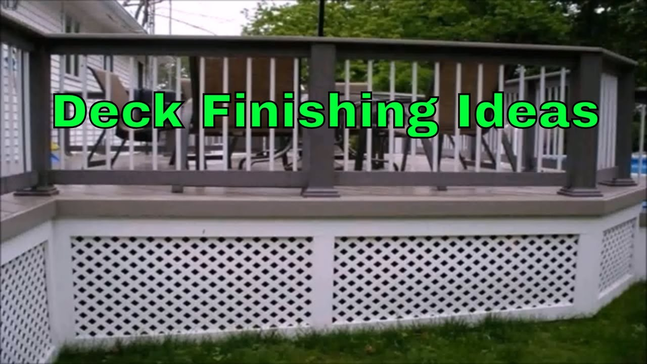 Diy Porch Skirt Panel Ideas With Vinyl Composite Lattice For Deck