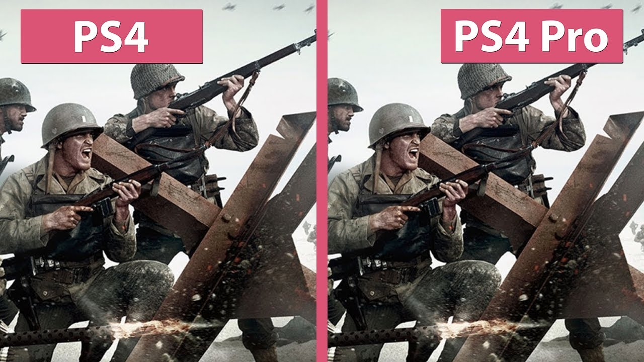 Call of duty wwii ps4 vs ps4 pro 4k mode beta graphics - Is cod ww2 4k ...