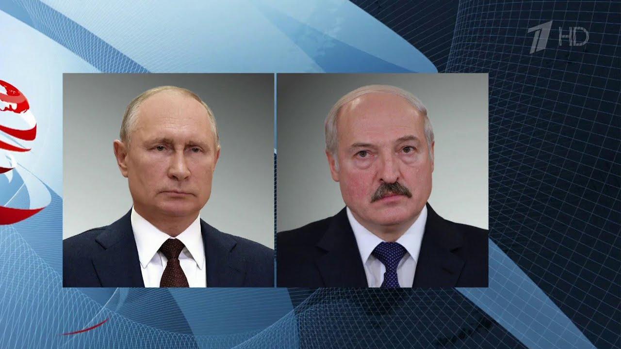 Владимир Путин говорил по телефону с президентом Белоруссии и премьер-министром Ливана.