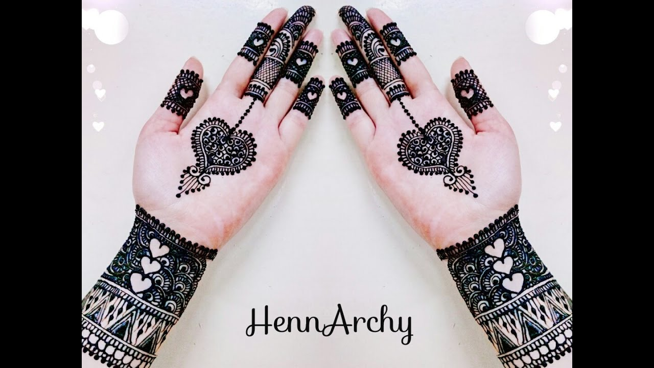 Cute Henna Designs: Cute Hearts Henna Design For Hands