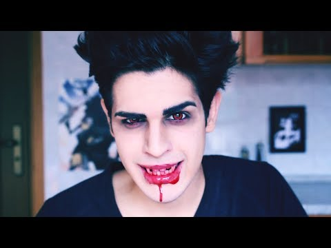Male Vampire Emo Makeup Tutorial Fast And Easy For Halloween Youtube