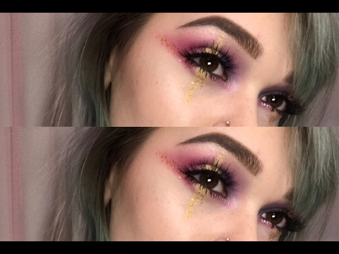 Sparkly Pastel Eye Shadow Makeup Tutorial