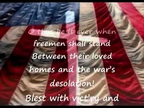 The Star Spangled Banner with lyrics all Verse Included ...