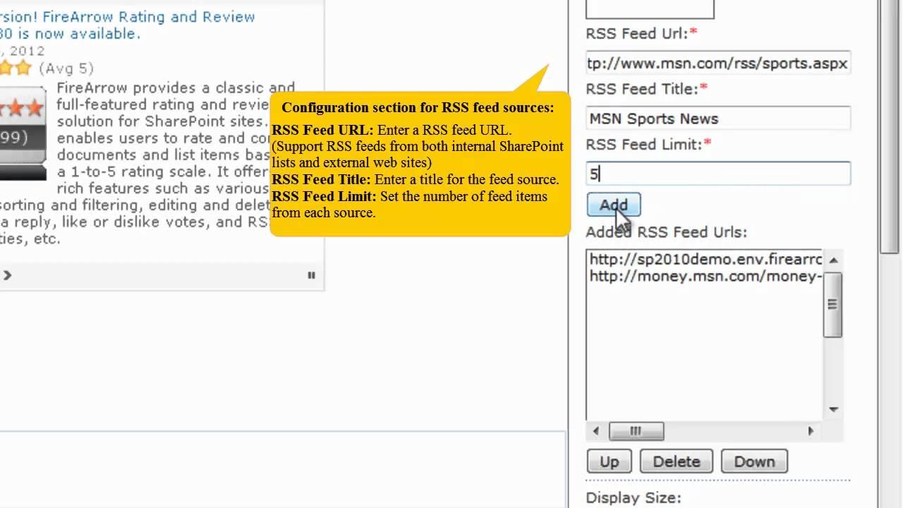 FireArrow Advanced RSS Viewer Web Part