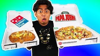 I Tried Ordering Every Topping On My Pizza From Papa Johns ~ Dominos