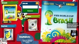 FIFA World Cup Brazil 2014 - Online Stickerbook Collection DAY 1 - (CAMERON) MESSI IN A PACK
