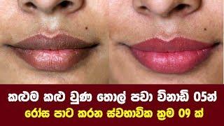 කළුම කළු වුණ තොල් පවා විනාඩි 05න් රෝස පාට කරන ස්වභාවික ක්රම 9 ක් - How to Lighten Dark Lips