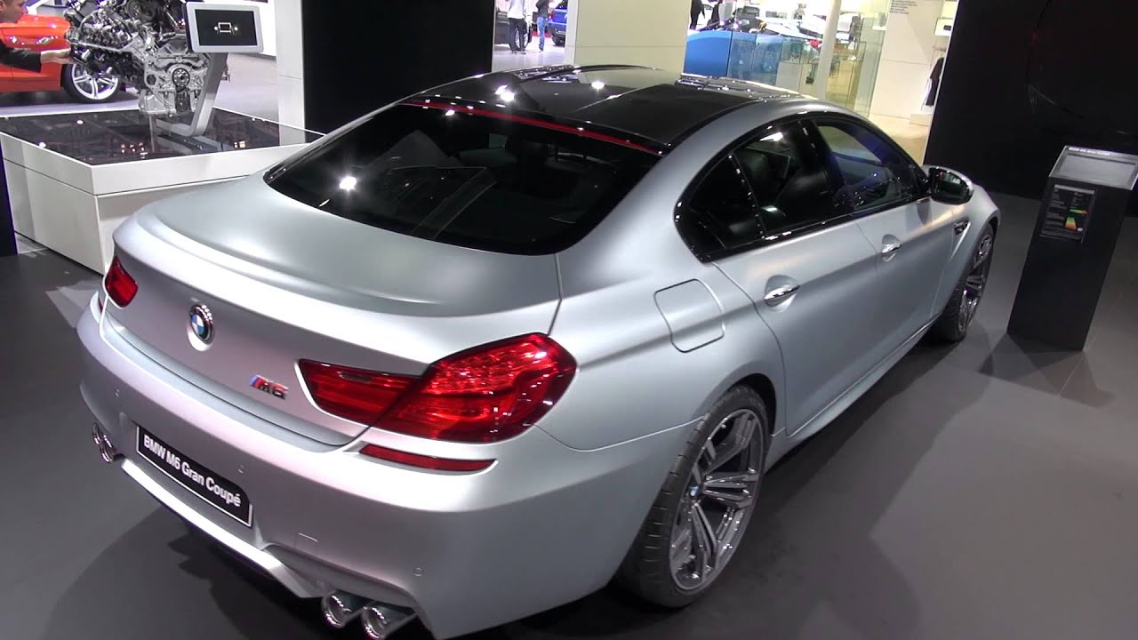 BMW M6 Gran Coupe in detail of the exterior Geneva Salon 2013