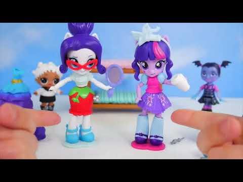 Don't Wake Vampirina My Little Pony Rarity Twilight Sparkle Switch Mix Fashion Barbie Slumber Party!