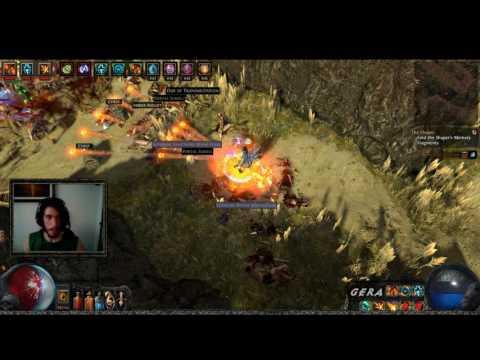 Path of Exile: Build Fireball 350% Rarity // 3 Exalted por dia em farm