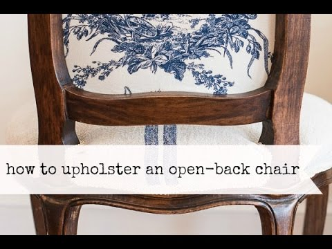 how to upholster the back of an open frame chair   miss mustard seed