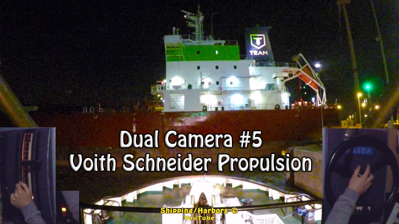 Tugboat Dual Camera #5 - Voith Schneider Controls