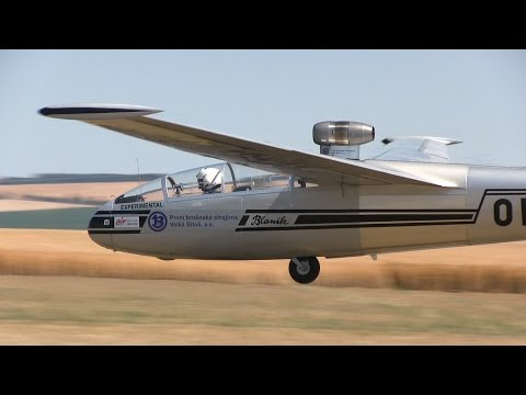 L-13 TJ Blaník, Turbine Assisted Glider - Jets Over Czech 2015