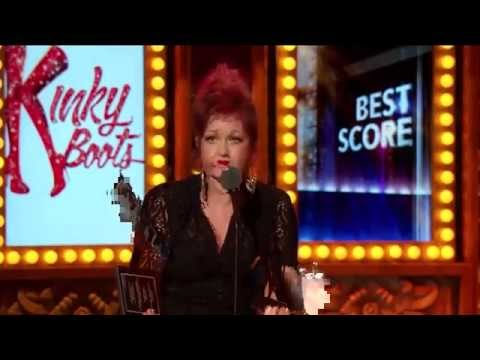Cyndi Lauper's Tony Award Acceptance Speech for Kinky Boots