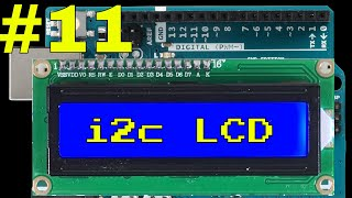 How to use an i2c LCD display with arduino - including library install