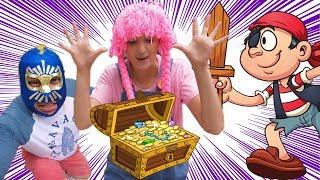 El cofre de piratas esta lleno de juguetes   kids treasure chest full of toys S3:E135