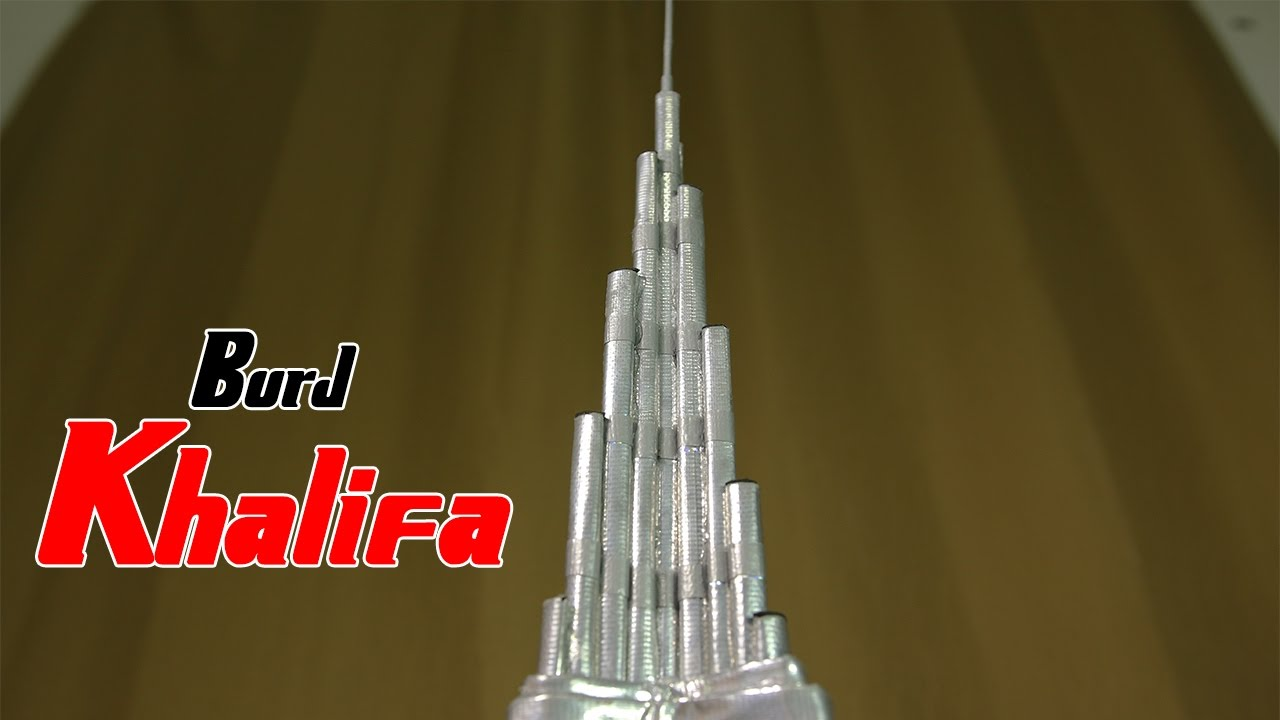 How To Make A Burj Khalifa Skyscraper Out Of Paper And Tape