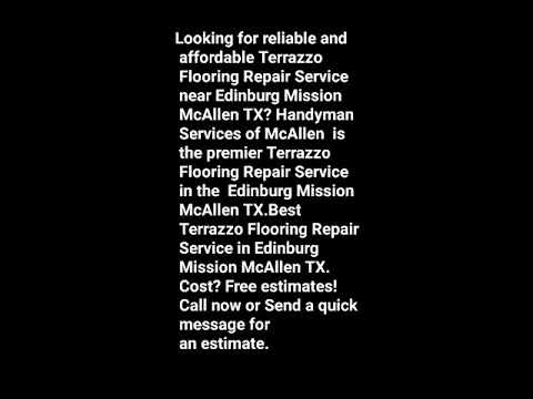 Best Terrazzo Flooring Repair Handyman Edinburg Mission