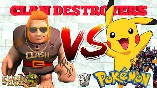 POKEMON x Clan Destroyers LEARN 3 star builderbase attacks CLASH OF CLANS