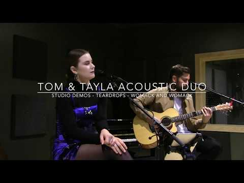 Tom & Tayla Duo - Live studio demo - Teardrops (Womack and Womack)