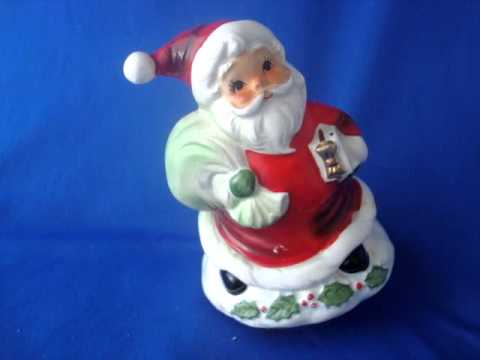 1950s dime store Santa musical figurine made in Japan