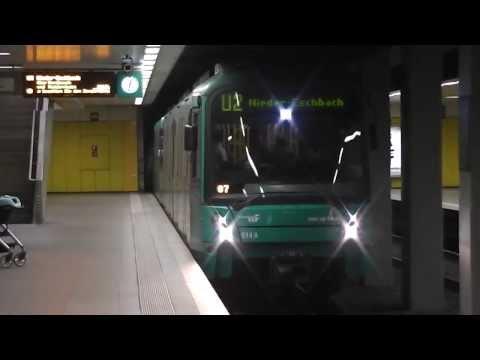 U-Bahn Trains in Frankfurt, Germany