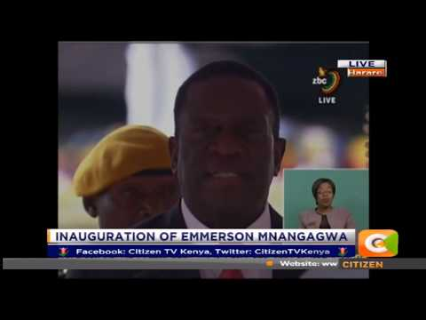 Mnangagwa sworn in as the new President of Zimbabwe