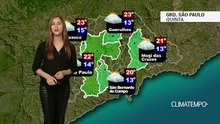 Previsão Grande São Paulo - Esquenta nesta quinta