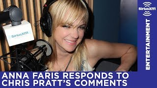 Anna Faris responds to Chris Pratt's divorce comments