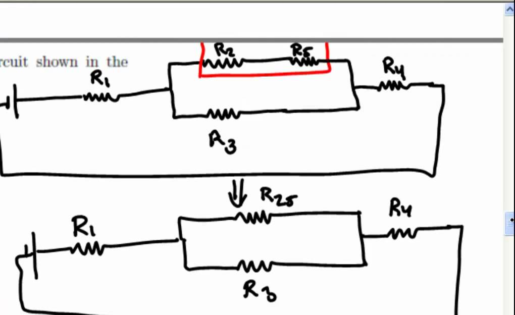 equivalent resistance  complex 5 resistor circuit