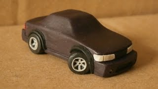Урок как слепить машинку Nissan Silvia из пластилина |Tutorial how to sculpt car from clay(Play Doh)