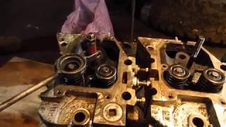 Ремонт головок  двигателя -БелАза. ЯМЗ-240ПМ2.(Притирка клапанов).
