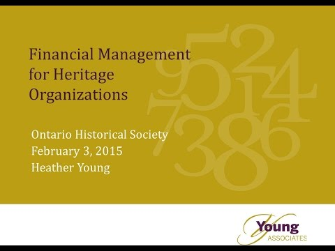 Financial Management  for Heritage Organizations