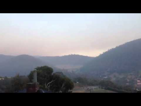 Smoke over Mt Wellington, state fires