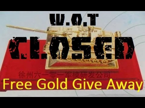 world of tanks how to get free gold
